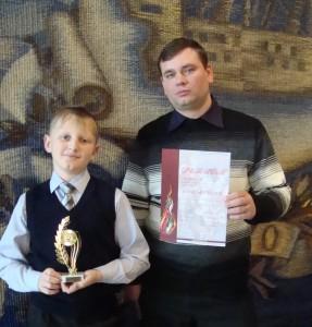 Лауреат междунар конкурса баянистов Снесарев Дмитр и препод Сметухин Дмитр Серг
