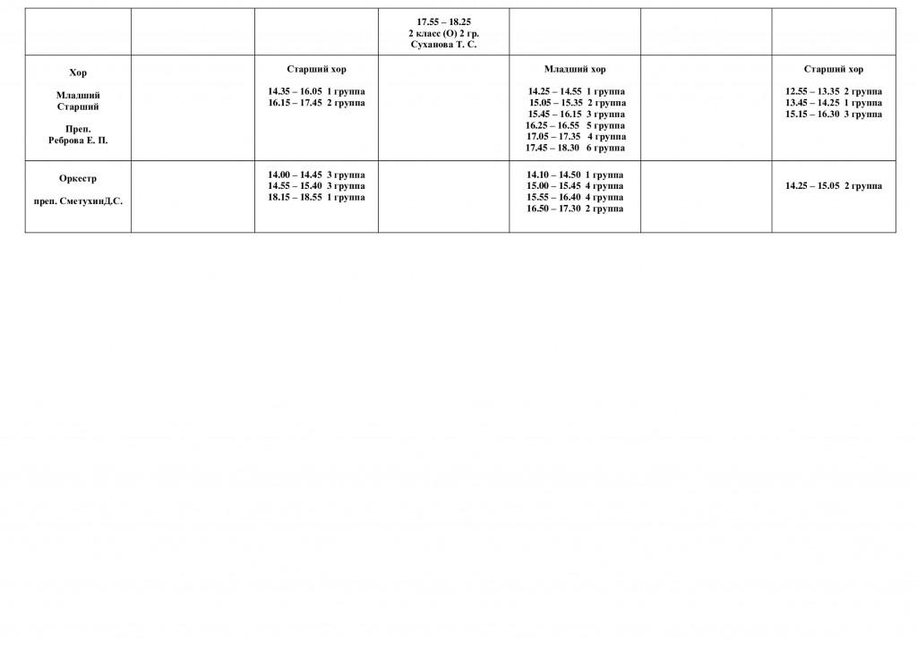 Расписание шрупповых занятий на 2020-2021 учебный год 2